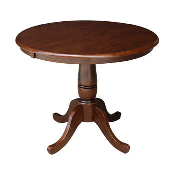 9. International Concepts 36-Inch Round Pedestal Table