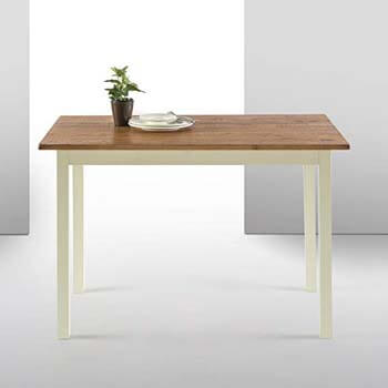 5. Zinus Farmhouse Wood Dining Table