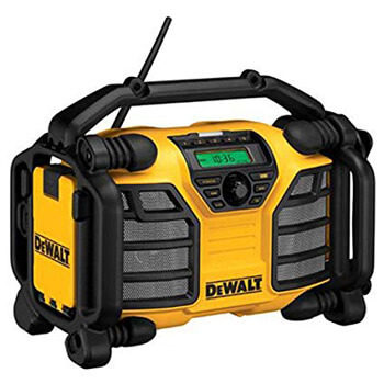 3. DEWALT 20V MAX/12V Jobsite Radio and Battery Charger