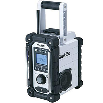 8. Makita XRM02W 18V Compact Lithium-Ion Cordless Job Site Radio