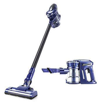 9. PUPPYOO Cordless Vacuum Cleaner, for Carpet Hard Floor Pet