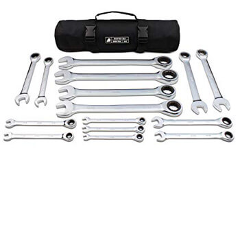 8. 15pc Inch TIGHTSPOT Ratcheting Wrenches MASTER SET