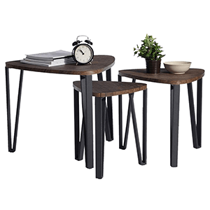 1. Coffee Table Set of 3 End Side Table