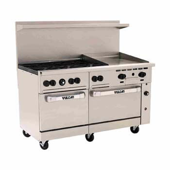 9. Vulcan 6055 6B24GP 60 Inches endurance Restaurant Range with 6 Burners.