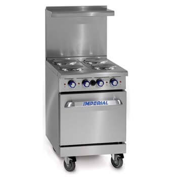 6. Imperial Commercial Restaurant Range 24 Inch with 4 Elements 20 Inch Standard Oven.