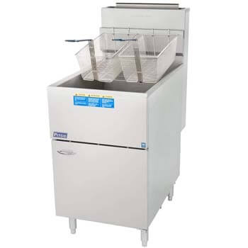 1. Pitco 65C+S 80 lb. Floor Model Fryer