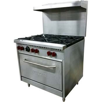 8. Vulcan SX36 6B 36 Inches 6 Burner Natural Gas Range