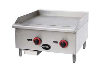 9. Limited Time only SABA Heavy Duty Commercial 24 Inch Countertop Manual Griddle.