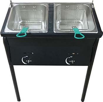 4. Bioexcel taco cart Outdoor Two Tank Fryer