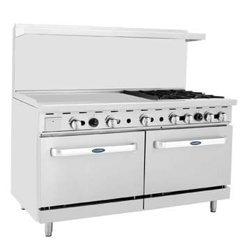 1. CookRite Commercial Natural Gas Range Four Burner.