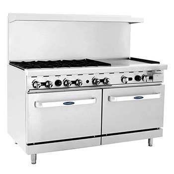 3. CookRite Commercial ATO-6B24G Liquid Propane Range with 6 Burners.