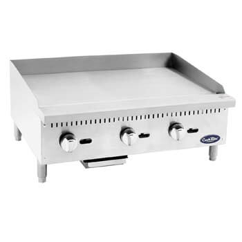 8. ATOSA US ATMG-24 Commercial Griddle Heavy Duty Manual Flat Top Restaurant Griddle