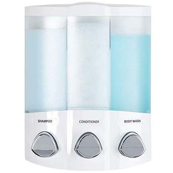 1: Better Living Products 76354 Euro Series TRIO 3-Chamber Soap and Shower Dispenser, White