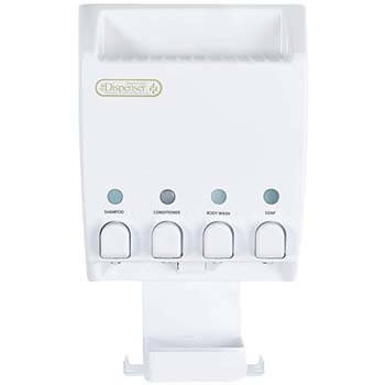 7: Better Living Products 75453 Ulti-Mate Dispenser 4-Chamber Shower Caddy, White