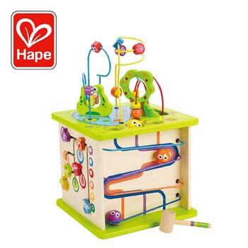6: Hape Country Critters Wooden Activity Play Cube by Hape