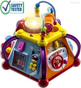 8: WolVol Educational Kids Toddler Baby Toy Musical Activity Cube
