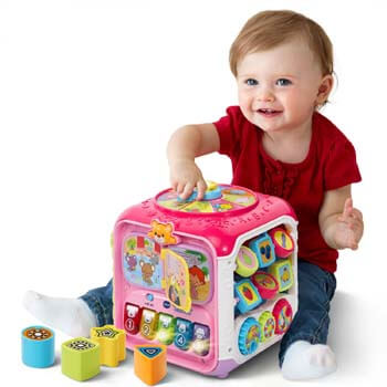 10: VTech Sort & Discover Activity Cube, Pink