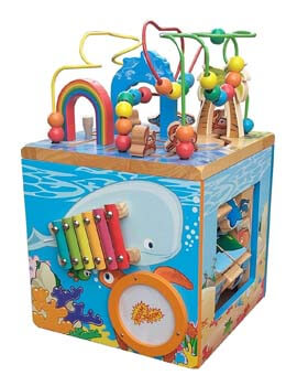 5: Pidoko Kids Under-the-Sea Adventures Deluxe Activity Wooden Maze Cube