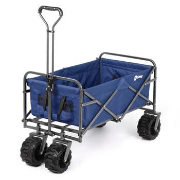 8: Sekey Folding Wagon Cart Collapsible Outdoor Utility Wagon