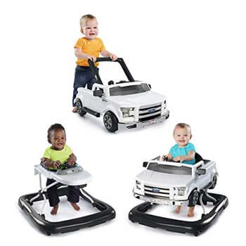 10: Bright Starts 3 Ways to Play Walker - Ford F-150, White, Ages 6 months