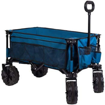 3: Timber Ridge Folding Camping Wagon/Cart - Collapsible Sturdy Steel Frame Garden/Beach Wagon/Cart Heavy Duty