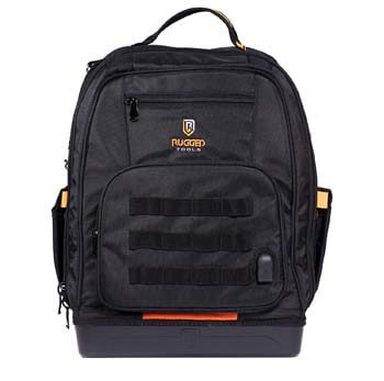 8: Rugged Tools Worksite Tool Backpack