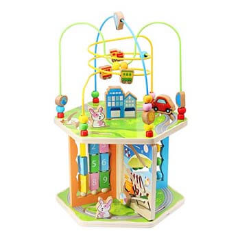 9: ZONXIE Wooden 7-in-1 Baby Activity Play Cube