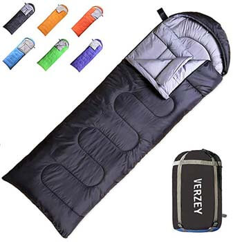 7: VERZEY Mummy Envelope Camping Sleeping Bag