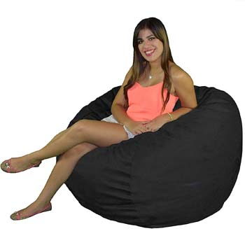 9: Cozy Sack Bean Bag Chair: Large 4 Foot Foam Filled Bean Bag