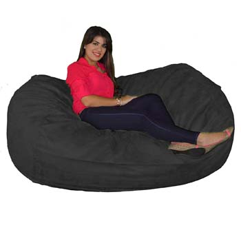 10: Cozy Sack 640-CBB-BLACK Maui Beanbag Chair, 6 Foot, Black