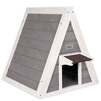 5: Petsfit Outdoor Triangle Cat House with Escape Door for All Cats