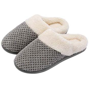 4: ULTRAIDEAS Women's Comfort Coral Fleece Memory Foam Slippers