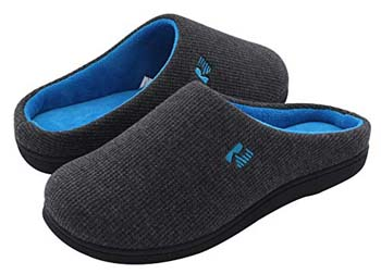 1: RockDove Men's Original Two-Tone Memory Foam Slipper