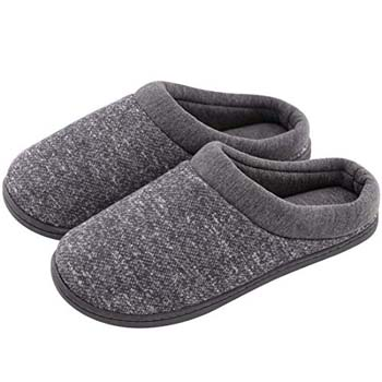 3: HomeTop Women's Comfort Slip-on Memory Foam Slippers