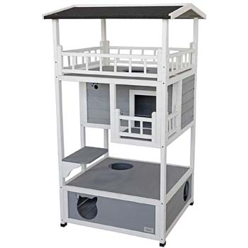 2: Petsfit Outdoor Cat House Weatherproof, Sturdy and Cute for Play and Hide