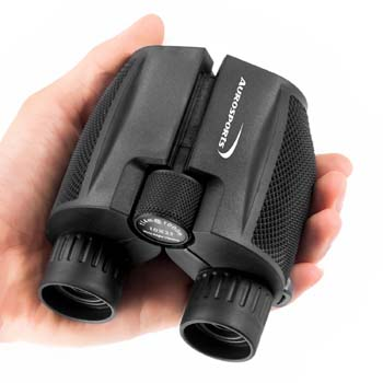 10: Aurosports 10x25 Folding High Powered Binoculars