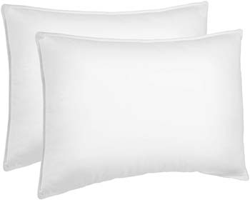 1: AmazonBasics Down Alternative Bed Pillows for Stomach and Back Sleepers