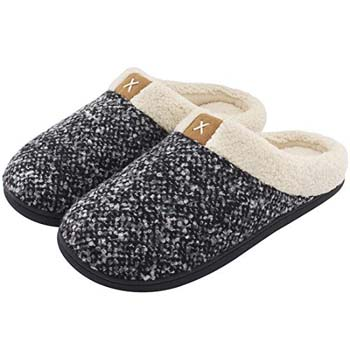 10: ULTRAIDEAS Men's Cozy Memory Foam Slippers