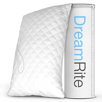 8: Dream Rite Shredded Hypoallergenic Memory Foam Pillow WonderSleep Series