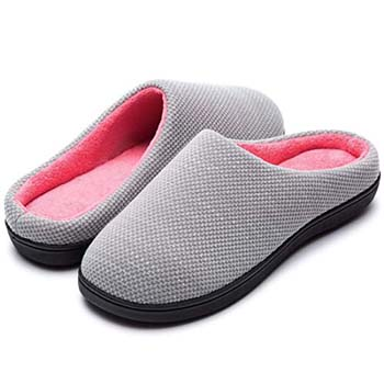 9: RockDove Women's Birdseye Knit Two-Tone Memory Foam Slipper