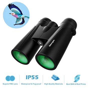 8: 12x42 Roof Prism Binoculars for Adults - Professional HD Binoculars