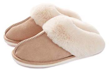 8: Donpapa Women's Slippers Memory Foam Fluffy Warm Non-Slip Comfortable Slip-on House Shoes
