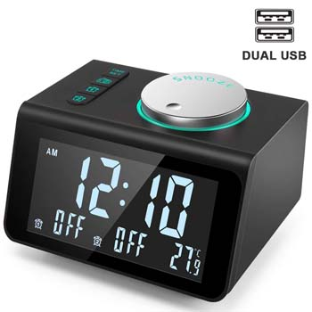 10: ANJANK Small Alarm Clock Radio