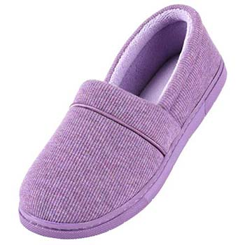 7: ULTRAIDEAS Women's Comfy Memory Foam Cotton Knit Slippers