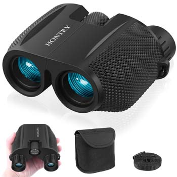 1: Hontry Binoculars for Adults and Kids, 10x25 Folding and Compact Binoculars