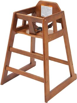 10: Winco CHH-104 Unassembled Wooden High Chair