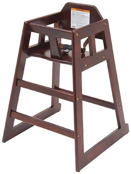 2: Winco CHH-103 Unassembled Wooden High Chair