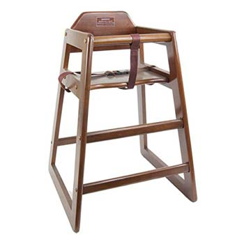 7: Children's Commercial Wooden High Chair