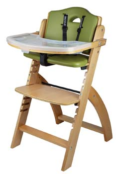 1: Abiie Beyond Wooden High Chair with Tray
