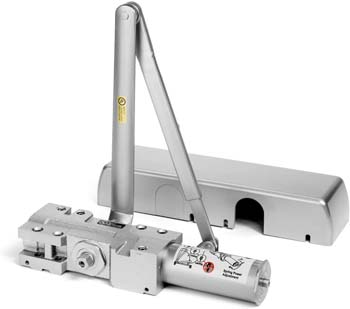 7: Dynasty Hardware 4401-ALUM Surface Mount Heavy Duty Commercial Door Closer, Sprayed Aluminum